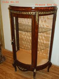 antique display cabinets with glass doors 1 door demi lune display cabinet dark rosewood bombe glass sides