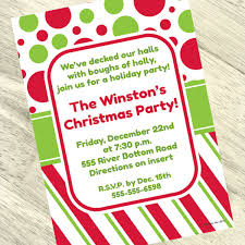 polka dot invitations christmas polka dots personalized invitation
