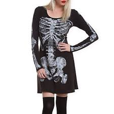 Skeleton Dress 29 Off Topic Dresses U0026 Skirts Little Black Skeleton Goth