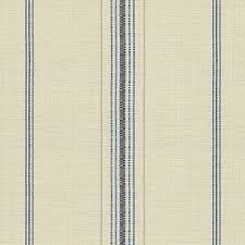 Striped Drapery Fabric Blue Feedsack Style Cotton Stripe Fabric Farmhouse Drapery