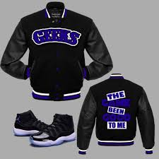 jordan space jams the game been good varsity jacket to match jordan 11 space jam