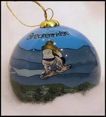 filled with snowboarding gifts ornament