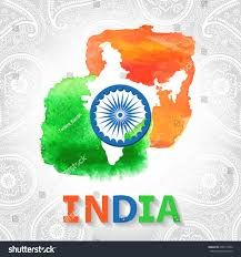 World Map Poster India by Indian Independence Republic Dayindia Cardpostervector Watercolor