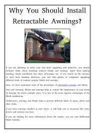Installing Retractable Awning Retractable Awnings