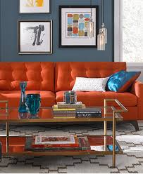 Living Room With Orange Sofa Karlie Fabric Sofa Living Room Furniture Collection For The Home