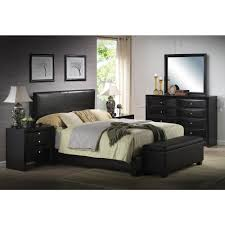 Bed With Headboard Acme Furniture Ireland Black Upholstered Bed 14340q The