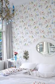 wallpaper with birds the vibrant wallpaper with large flowers in interior decor advisor