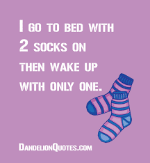 http dandelionquotes i go to bed with 2 socks on then
