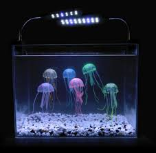 amazon com lesypet 15 pcs glowing effect artificial jellyfish for