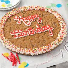 birthday cookie cake mrs fields happy birthday big cookie cake