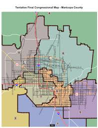 Phoenix Metro Map by Five Newly Drawn Districts Could Alter Arizona Legislature