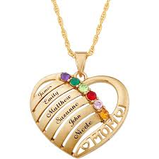 mothers necklace with names personalized birthstone name heart necklace 20