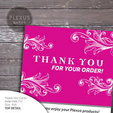 pink fancy plexus thank you card design digital files plexus cards