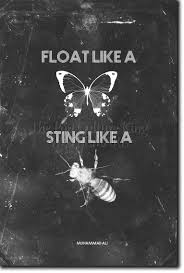 float like a butterfly sting like a bee poster photo print