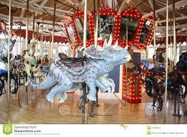 carousel dinosaur triceratops stock image image of carousel