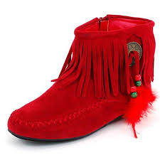 womens moccasin boots size 11 buy womens fringe moccasins flat shoes zipper ankle boots faux