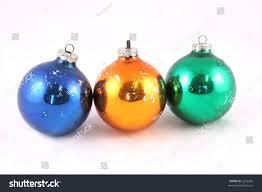 orange and blue christmas tree decorations pink blue orange gold