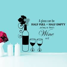 aliexpress com buy wall decals bottle glass of wine grapes promo