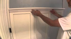 Bathroom With Wainscoting Ideas by Build Simple Bathroom Wainscot Pt 2 Youtube