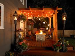 Backyard Patio Lighting Ideas by Patio Lights On Pergola Style Pixelmari Com