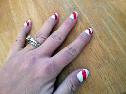 candy cane nail art honest and truly