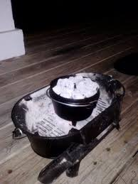 lodge dutch oven table try this easy peachy dutch oven cobbler survival mom