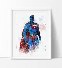 superman home decor superman superman poster superhero art poster heroes painting
