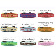 embroidered collars available in 9 color combinations
