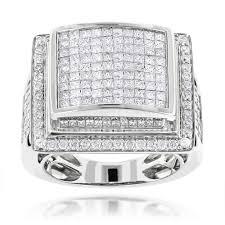 mens engagement ring mens rings 14k mens ring princess cut 6ct