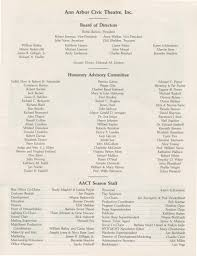 ann arbor civic theatre program amadeus march 01 1989 ann