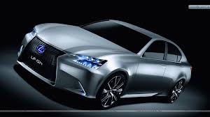 silver lexus lexus lf gh hybrid concept front side pose in silver color wallpaper