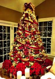 Purple Gold Christmas Decorations Red And Gold Christmas Tree Decoration Ideas That Are Actually