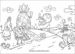 Simple Ideas Coloring Pages Spongebob Sponge Bob And His Friends Coloring Pages Sponge Bob