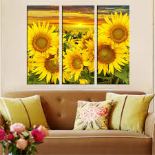 sunflower posters reviews online shopping sunflower posters hot canvas printed sunflower wall painting art poster modular picture for living room canvas painting art works unframed 3pcs