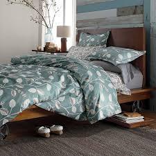 West Elm Chevron Duvet Bedroom West Elm Organic Cotton Sheets In Ikat Against Blue