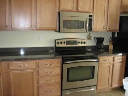 kitchen backsplash ideas with granite countertops grey granite countertops with oak cabniets kitchen backsplashes