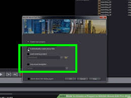 how to create a project in magix movie edit pro 2016 8 steps
