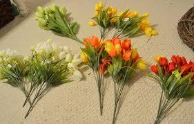 Tulip Wreath Spring Tulip Wreath Make Your Own Wreath Tutorial