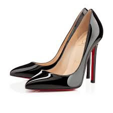 pigalle 120 black patent leather women shoes christian louboutin