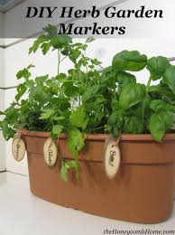 Diy Herb Garden Herb Garden Markers U0026 A Giveaway
