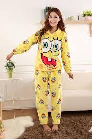 spongebob fleece pajamas set for