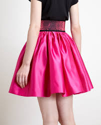 silk skirt christopher belted silk skirt in pink lyst