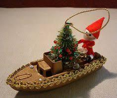 vintage german angel christmas tree ornament wood foil paper wings