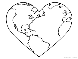 globe coloring pages getcoloringpages