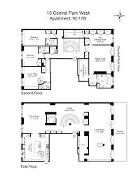 15 Central Park West Floor Plans by Central Park Unika Svenska Hem Till Salu Se