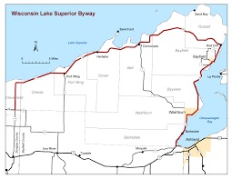 wisconsin scenic drives map wisconsin lake superior byway wisconsin lake superior scenic byway
