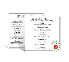 Programs For Wedding Wedding Square Programs Diy Wedding Programs Wedding Program With
