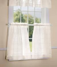 3 Inch Rod Pocket Sheer Curtains Café Curtains U0026 Tier Curtains Country Curtains