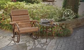 Cast Iron Patio Table And Chairs by Furniture Create A Peaceful Haven In All Seasons With Woodard