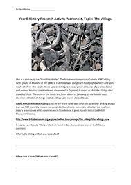 vikings artefact research worksheet by mraston teaching